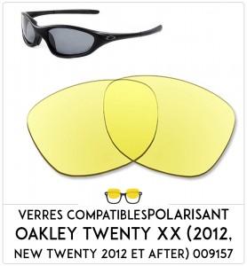 Verres de remplacement Oakley Twenty xx (2012, new twenty 2012 et after) 009157