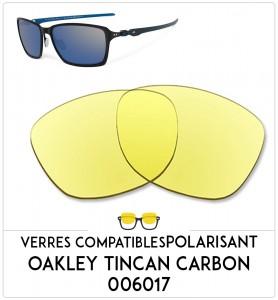 Verres de remplacement Oakley Tincan carbon 006017