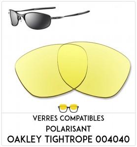 Verres de remplacement Oakley Tightrope 004040