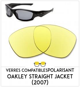 Verres de remplacement Oakley Straight jecket 2007