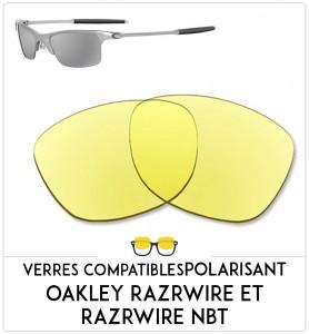 Verres de remplacement Oakley Razrwire et razrwire nbt