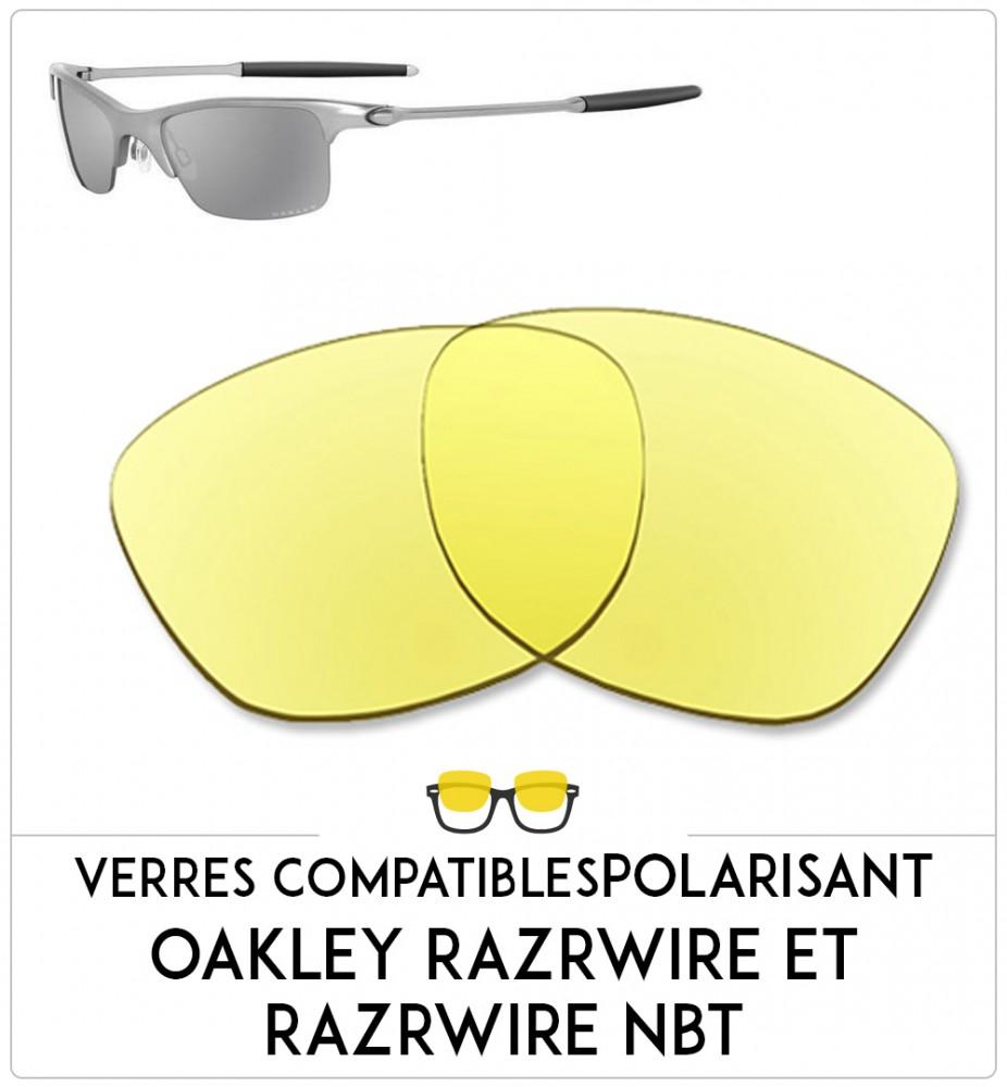 Verres compatible Oakley Razrwire et razrwire nbt