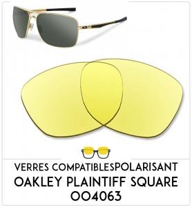 Verres de remplacement Oakley Plaintiff square  004063