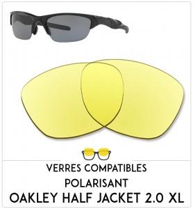 Verres de remplacement Oakley Half jacket 2.0 xl