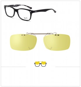Clip relevable compatible Ray-Ban 5228-53mm