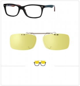 Clip relevable compatible Ray-Ban 5228-50mm
