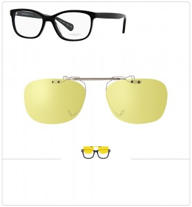 Clip relevable compatible OLIVER PEOPLES FOLLIES-51mm