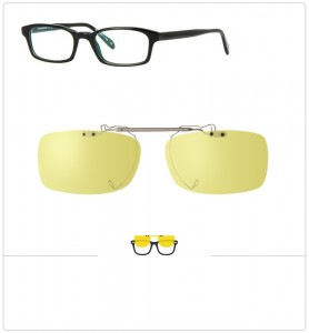Clip relevable compatible OLIVER PEOPLES ZUKO R-52mm