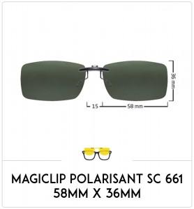 Magiclip SC 661- Polarisant - 58mm x 36mm