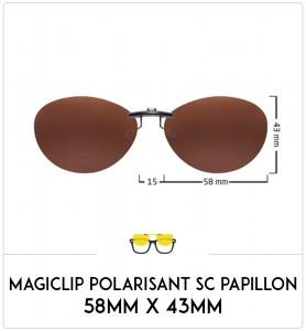 Magiclip SC PAPILLON- Polarisant - 58mm x 43mm