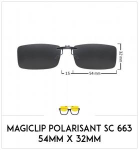 Magiclip SC 663- Polarisant - 54mm x 32mm