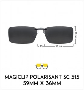 Magiclip SC 315- Polarisant - 59mm x 36mm