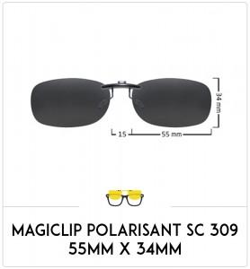 Magiclip SC 309 - Polarisant - 55mm x 36mm
