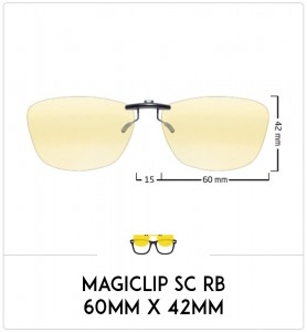 Magiclip SC RB- Polarisant - 60mm x 42mm