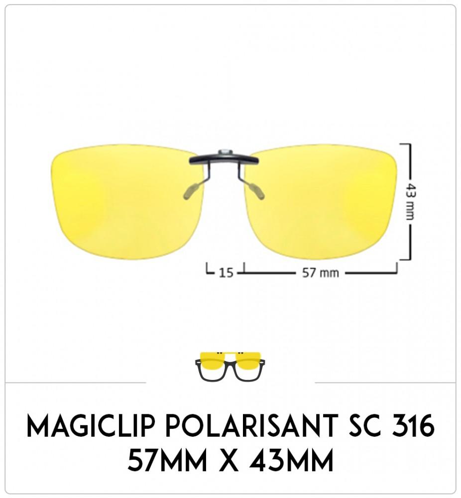 Magiclip SC 316- Polarisant - 57mm x 43mm