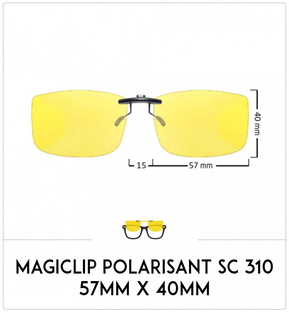 Magiclip SC 310- Polarisant - 57mm x 40mm