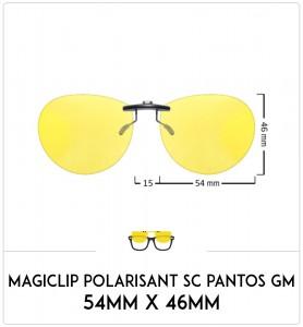 Magiclip SC PANTOS GM- Polarisant - 54mm x 46mm