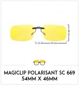 Magiclip SC 669- Polarisant - 54mm x 46mm