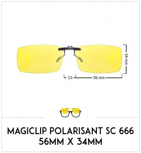 Magiclip SC 666- Polarisant - 56mm x 34mm