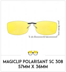 Magiclip SC 308 - Polarisant - 57mm x 36mm