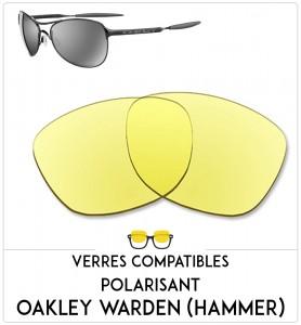Verres de remplacement Oakley Warden(hammer)