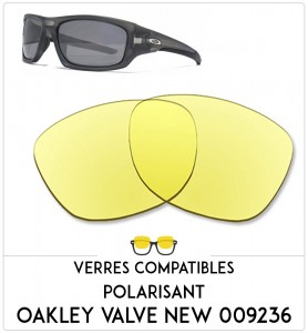 Verres de remplacement Oakley Valve new 009236