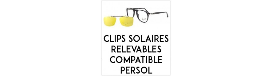 Flip-up clip-on-sunglasses  - Compatible Persol | Changer mes Verres