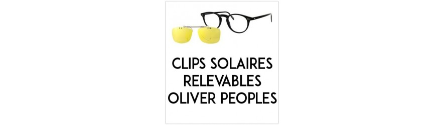 Flip-up clip-on-sunglasses  - Compatible Oliver Peoples